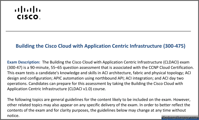 cisco-cldaci-exam-blueprint