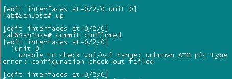 juniper junos atm error message