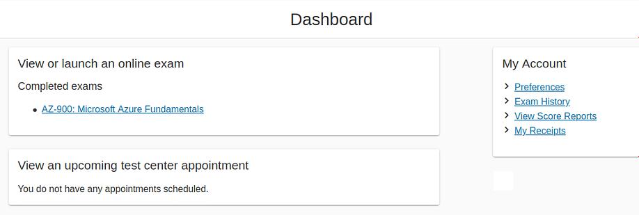 az 900 exam score report 2