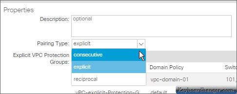 aci selecting another vPC pairing type