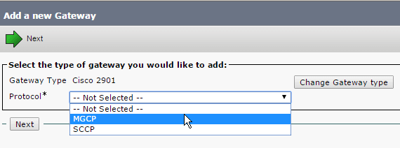 select-type-mgcp-gateway