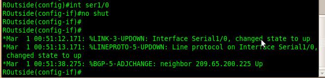 BGP neighborship went up