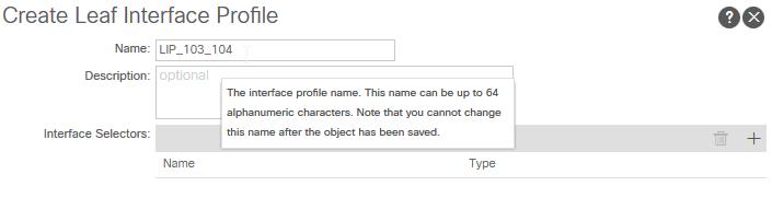 setting a name for a Leaf Interface Profile