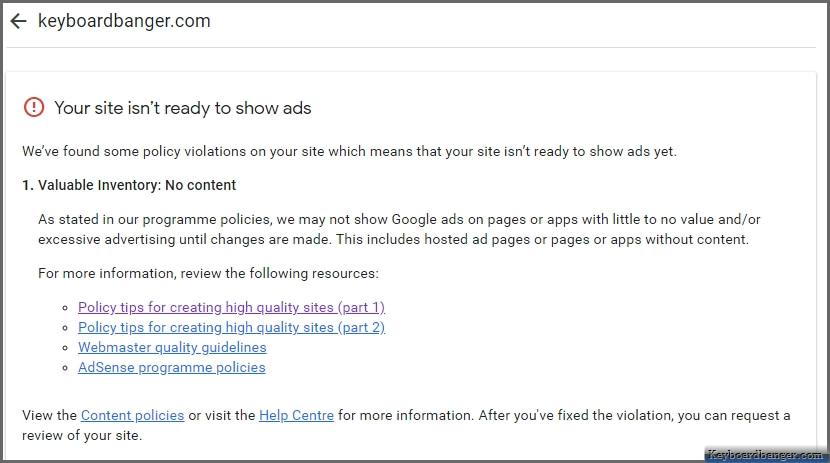 google adsense team reply