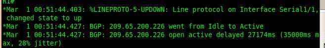BGP neighborship went active