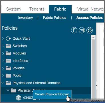 aci-physical-domain-menu