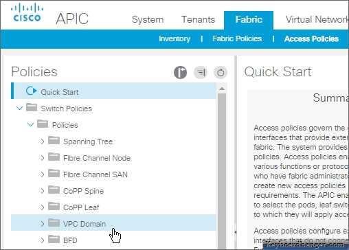 aci vpc domain policy in aci release 3