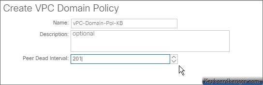 ACI create vpc domain policy settings