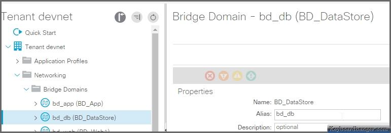 properties of an ACI bridge domain
