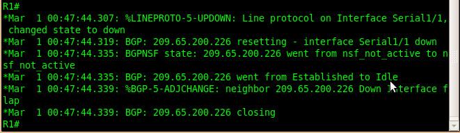 BGP neighborship went idle