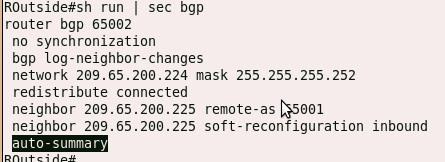 auto-summary is configured under BGP